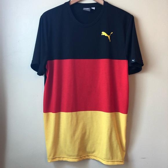 86120ce25 Puma Shirts | Germany Deutschland Color Block Wow T Shirt | Poshmark